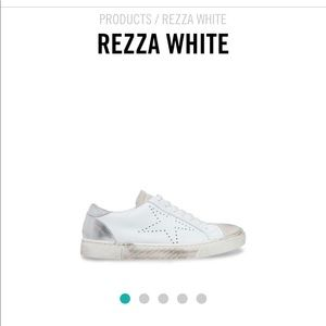 White leather Steven Rezza size 8. New